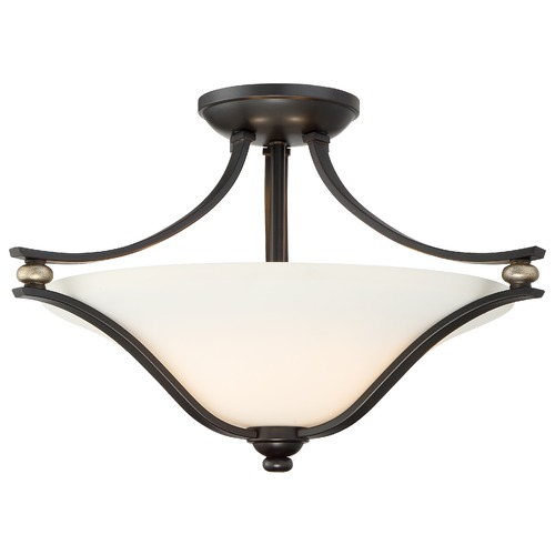 Minka Lavery Minka Shadowglen Lathan Bronze with Gold Semi-Flushmount Light 3282-589
