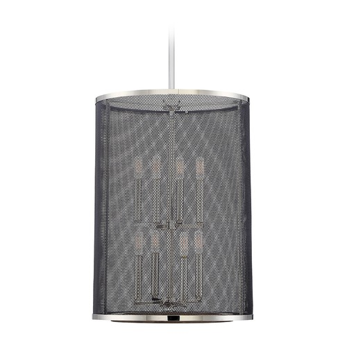 Savoy House Savoy House Lighting Valcour Polished Nickel Pendant Light with Cylindrical Shade 3-3091-8-73
