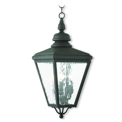 Livex Lighting Livex Lighting Cambridge Black Outdoor Hanging Light 2035-04