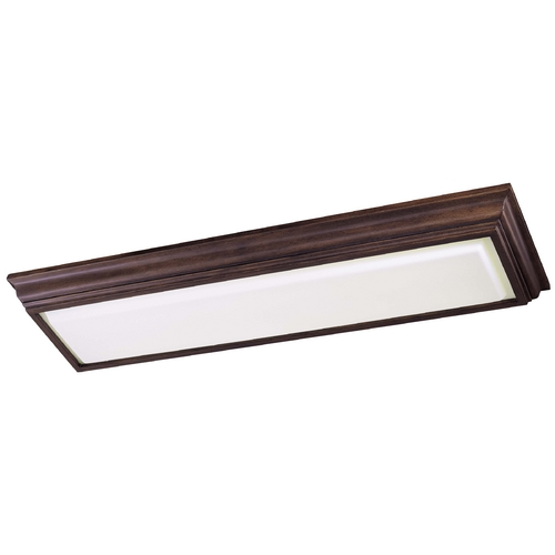 Minka Lavery Flushmount Light with White Glass in Belcaro Walnut Finish 1001-126-PL