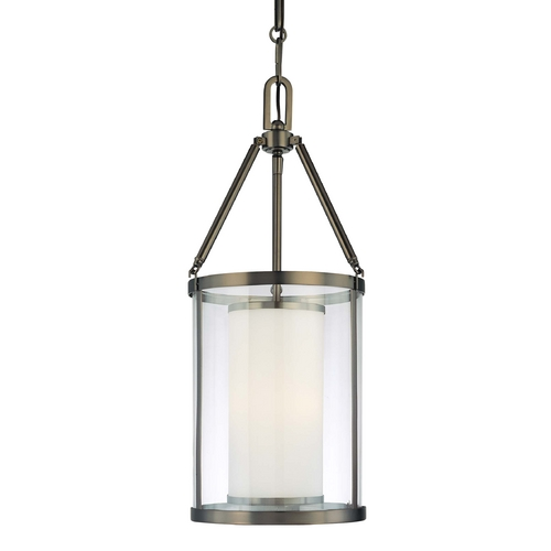 Minka Lavery Pendant Light with Clear Glass in Harvard Ct. Bronze Finish 4367-281