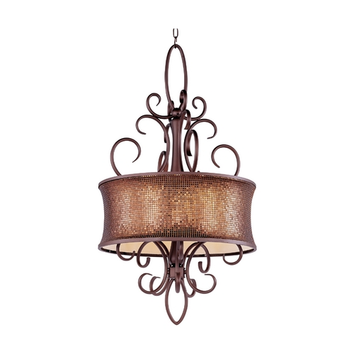 Maxim Lighting Drum Pendant Light in Umber Bronze Finish 24164SBUB