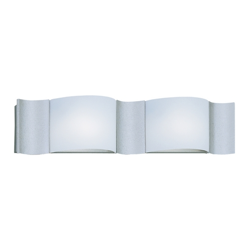 Designers Fountain Lighting Modern Bathroom Light with White Glass in Silver Sand Finish 4562-SI