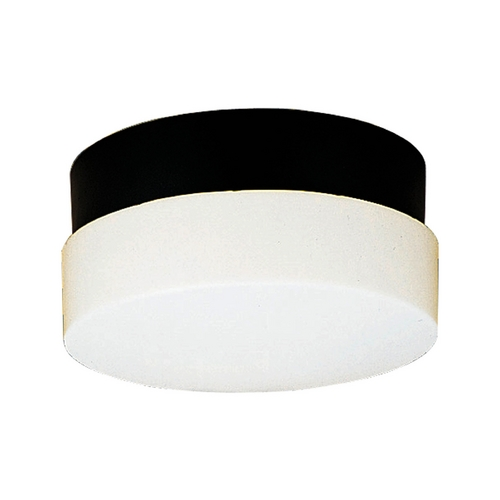 Progress Lighting Progress Close To Ceiling Light with White in Black Finish P5711-31