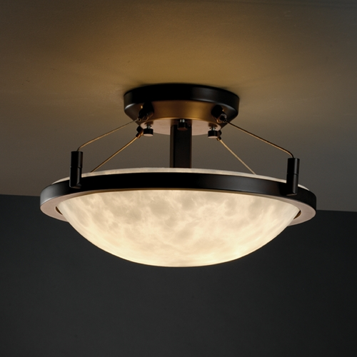Justice Design Group Justice Design Group Clouds Collection Semi-Flushmount Light CLD-9680-35-DBRZ