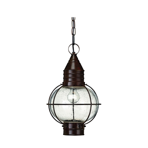 Hinkley Lighting Outdoor Hanging Light with Clear Glass in Sienna Bronze Finish 2202SZ