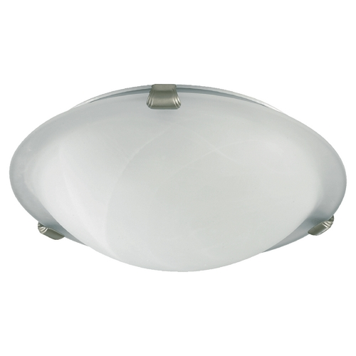 Quorum Lighting Quorum Lighting Satin Nickel Flushmount Light 3000-12-65