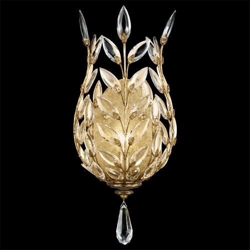 Fine Art Lamps Fine Art Lamps Crystal Laurel Gold Leaf Sconce 773950ST