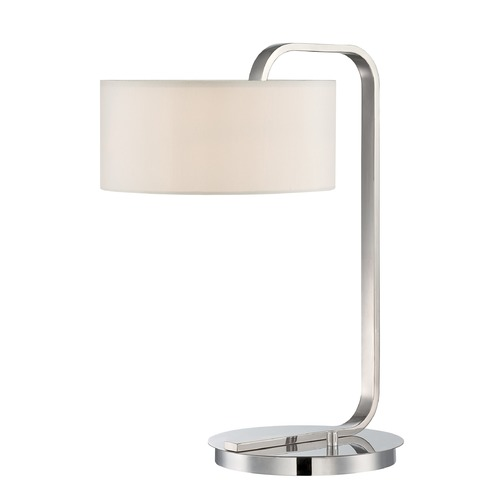 Lite Source Lighting Lite Source Mea Chrome Table Lamp with Drum Shade LS-22642