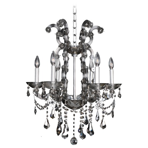 Allegri Lighting Brahms 6 Light Crystal Chandelier 023455-010-FR006