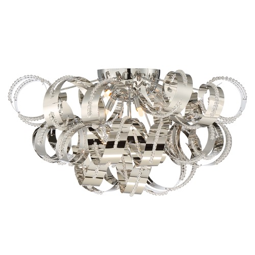 Quoizel Lighting Quoizel Ribbons Crystal Chrome Flushmount Light RBN1628CRC
