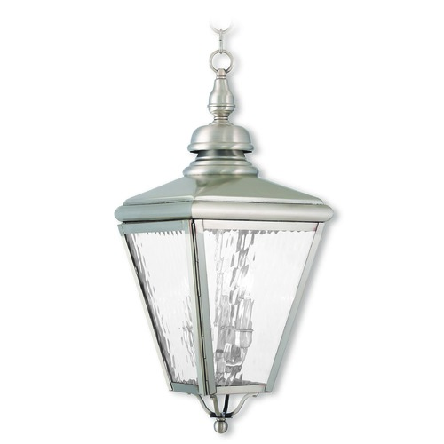 Livex Lighting Livex Lighting Cambridge Brushed Nickel Outdoor Hanging Light 2035-91