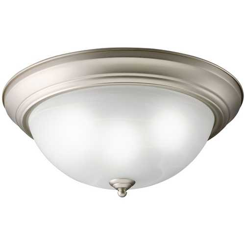 Kichler Lighting Kichler Flushmount Light with White Glass in Brushed Nickel Finish 10837NI