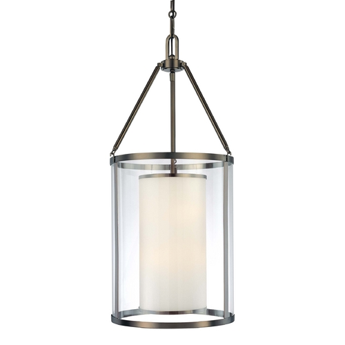 Minka Lavery Pendant Light with Clear Glass in Harvard Ct. Bronze Finish 4368-281