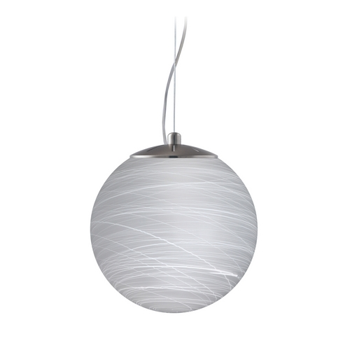 Besa Lighting Modern Pendant Light with White Glass in Satin Nickel Finish 1KX-432860-SN