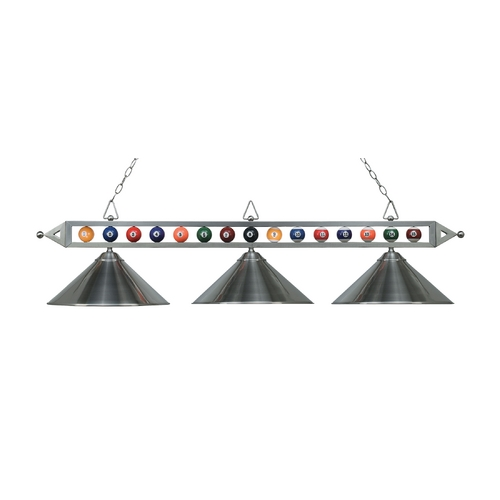 Elk Lighting Three-Light Billiard Pendant Light 190-1-SN-M