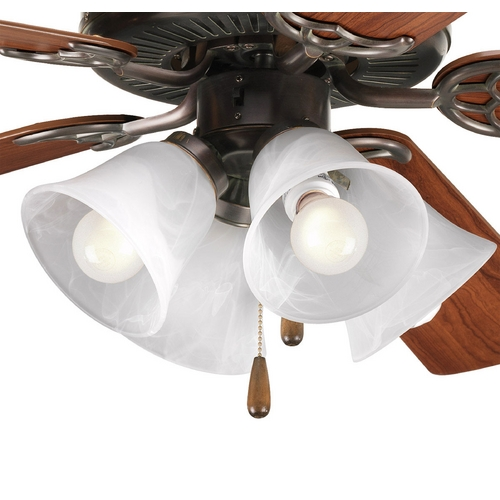 Progress Lighting Progress Light Kit with Alabaster Glass in Antique Bronze Finish P2610-20