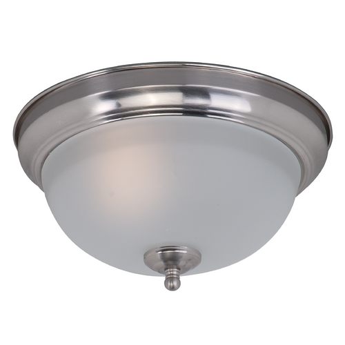 Maxim Lighting Maxim Lighting Flush Mount Ee Satin Nickel Flushmount Light 85840FTSN