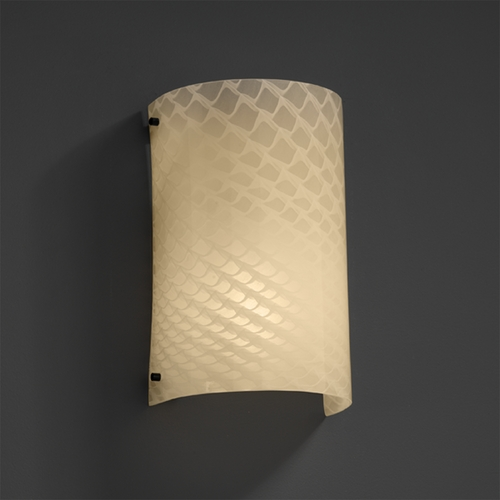 Justice Design Group Justice Design Group Fusion Collection Outdoor Wall Light FSN-5542W-WEVE-MBLK