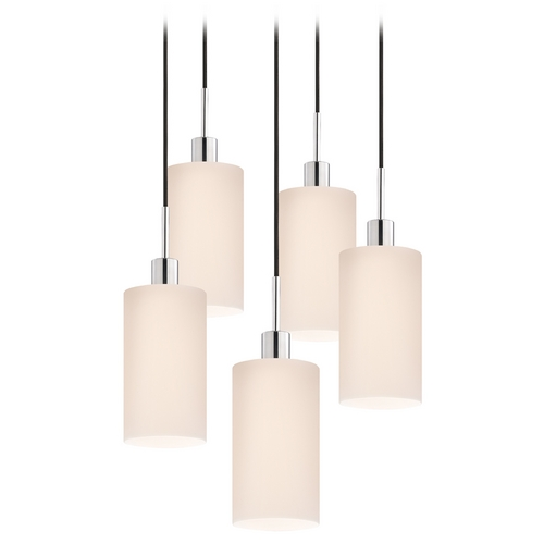 Sonneman Lighting Modern Multi-Light Pendant Light with White Glass and 5-Lights 3560.01K-5