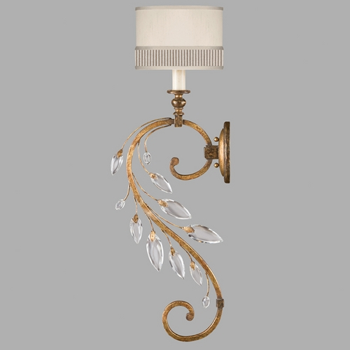 Fine Art Lamps Fine Art Lamps Crystal Laurel Gold Leaf Sconce 774850ST