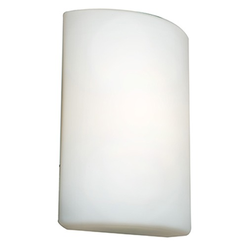 Access Lighting Access Lighting Oblong White Outdoor Wall Light 20395-WH/OPL