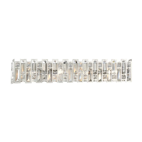 Designers Fountain Lighting Designers Fountain West 65th Satin Platinum Bathroom Light 88204-SP