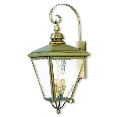 Livex Lighting Livex Lighting Cambridge Antique Brass Outdoor Wall Light 2036-01