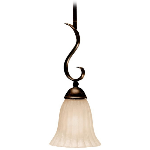 Kichler Lighting Kichler Mini-Pendant Light with Beige / Cream Shade 3427TZ