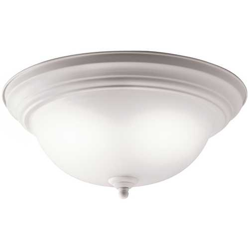 Kichler Lighting Kichler Flushmount Light with White Glass in White Finish 10836WH