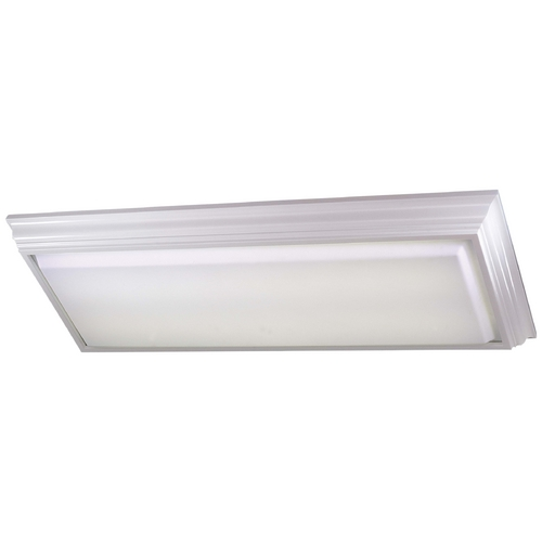 Minka Lavery Flushmount Light with White Glass in White Finish 1002-44-PL