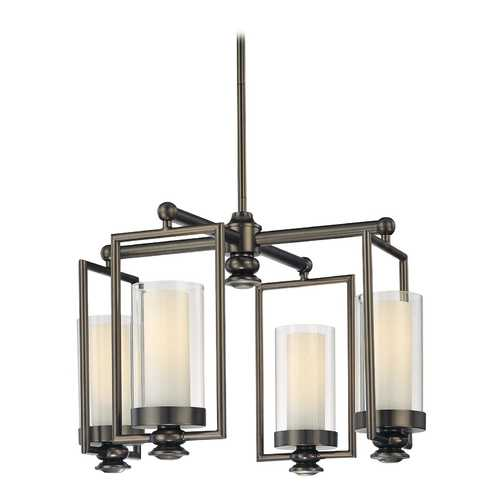 Minka Lavery Chandelier with Clear Glass in Harvard Ct. Bronze Finish 4363-281