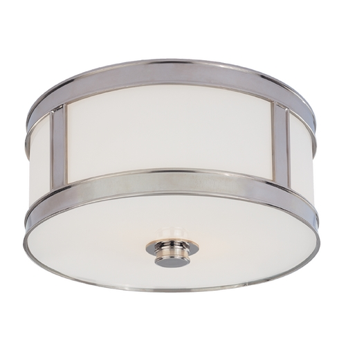 Hudson Valley Lighting Flushmount Light with White Glass in Polished Nickel Finish 5510-PN