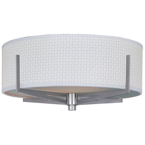 ET2 Lighting Modern Flushmount Light with White Shades in Satin Nickel Finish E95300-100SN