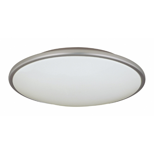 Lite Source Lighting Modern Flushmount Light with White Acrylic Shade - 17-Inches Wide LS-5411SS/WHT