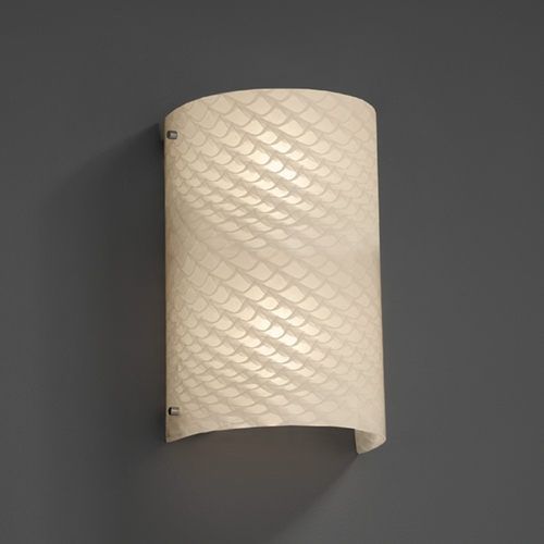 Justice Design Group Justice Design Group Fusion Collection Outdoor Wall Light FSN-5542W-WEVE-NCKL