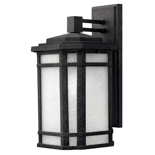 Hinkley Lighting Outdoor Wall Light with White Glass in Vintage Black Finish 1274VK