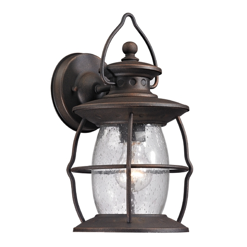 Elk Lighting Outdoor Wall Light with Clear Glass in Weathered Charcoal Finish 47040/1
