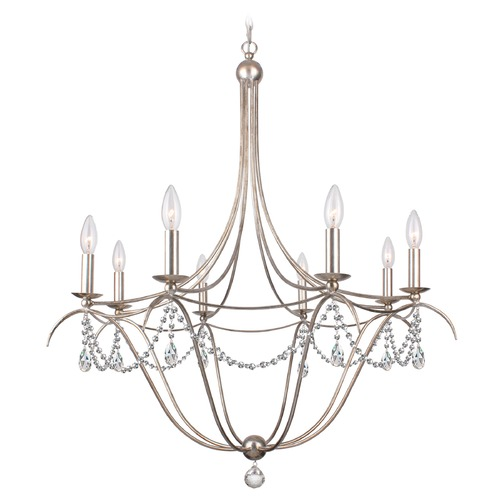 Crystorama Lighting Crystorama Lighting Hot Deal Antique Silver Chandelier 418-SA-CL-SAQ