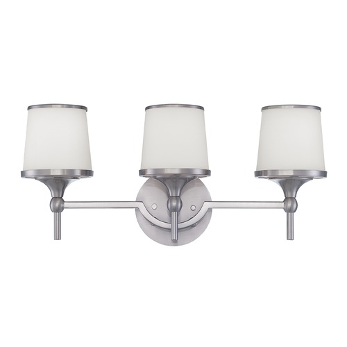 Savoy House Savoy House Satin Nickel Bathroom Light 8-4385-3-SN