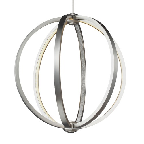 Feiss Lighting Feiss Khloe Satin Nickel LED Pendant Light P1392SN
