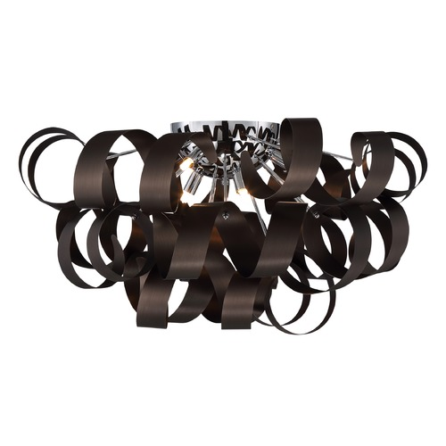 Quoizel Lighting Quoizel Ribbons Western Bronze Flushmount Light RBN1628WT