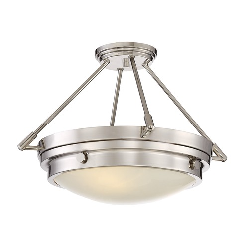 Savoy House Savoy House Lighting Lucerne Polished Nickel Semi-Flushmount Light 6-3351-3-109