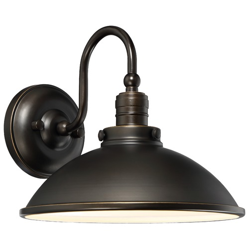 Minka Lavery Minka Baytree Lane Oil Rubbed Bronze with Gold LED Outdoor Wall Light 71169-143C-L