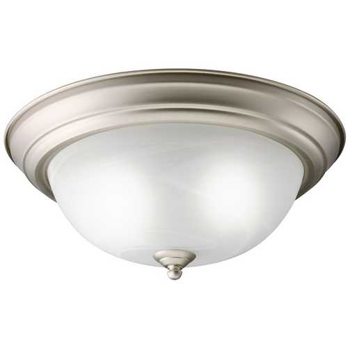 Kichler Lighting Kichler Flushmount Light with White Glass in Brushed Nickel Finish 10836NI
