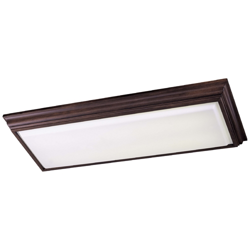 Minka Lavery Flushmount Light with White Glass in Belcaro Walnut Finish 1002-126-PL