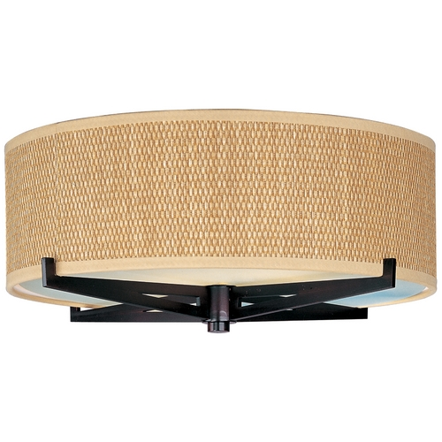 ET2 Lighting Modern Flushmount Light with Brown Tones Shades in Oil Rubbed Bronze Finish E95300-101OI