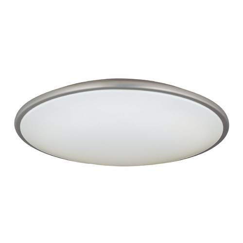 Lite Source Lighting Large Modern Ceiling Light with White Acrylic Shade - 21-Inches Wide LS-5412SS/WHT