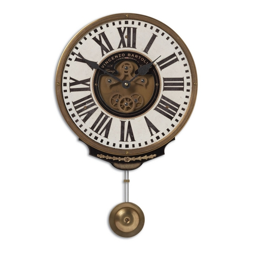 Uttermost Lighting Clock in Brass Finish 06021