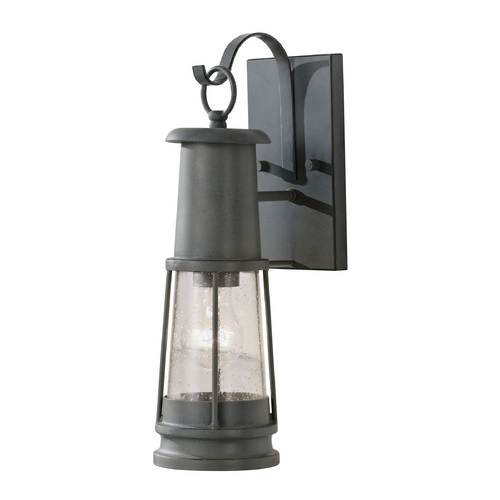 Feiss Lighting Outdoor Wall Light with Clear Glass in Storm Cloud Finish OL8100STC